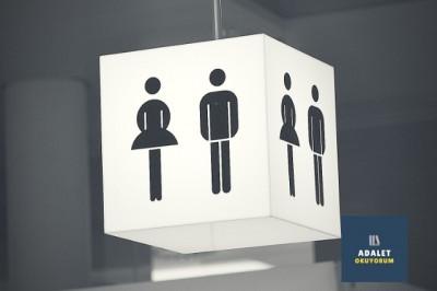 kadın erkek ilüstrasyonu olan tabela