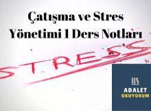 Aöf çatışma ve stres yönetimi 1 ders notları